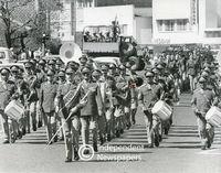 Apartheid-era military parade down Voortrekker Road, Bellville, Cape Town