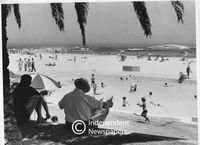Apartheid-era beach scene, Cape Town