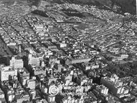 Aerial view of central Cape Town, circa 1940s