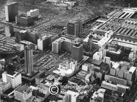 Aerial view of Cape Town city centre, 1968