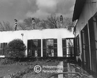 After the fire at Newlands House, Cape Town, 1981