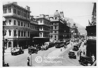 Adderley and Strand Streets intersection, Cape Town, 1930s