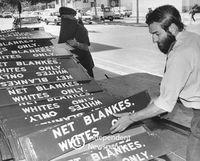 Apartheid signage, Cape Town, 20th century