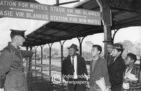 Apartheid signage, Cape Town Station, 1966