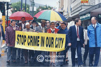 Anti-crime march from St George's Cathedral, Cape Town