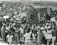 Anti-VAT demonstration, Khayelitsha, Cape Town