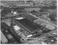 Aerial view of Chrysler's Elsies River plant, Cape Town