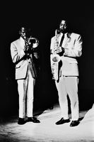 Jazz musicians, Blythe Mbityana with Dalton Khanyile, Johannesburg, South Africa