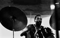 Louis Moholo playing the drums, Cape Town, South Africa