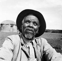 Xhosa elder posing for a portrait, Transkei, South Africa