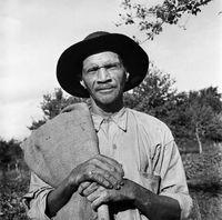 Portrait of a farm labourer, Genadendal, South Africa