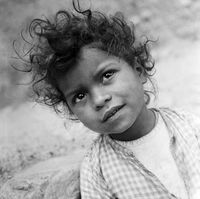 Portrait of a young child, Genadendal, South Africa
