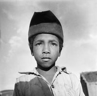 Portrait of a young boy, Genadendal, South Africa