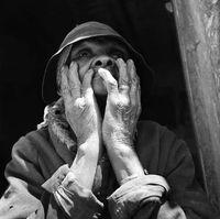 Portrait of an elderly woman, Genadendal, South Africa