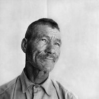Portrait of an elderly man, Genadendal, South Africa