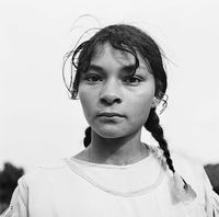 Portrait of a young girl, Genadendal, South Africa