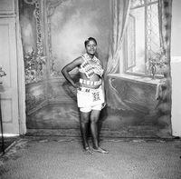 Studio portrait of a Zulu girl