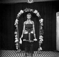 Studio portrait of Zulu woman
