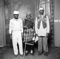 Studio portrait of Zulu people