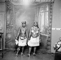 Studio potrait of Zulu women