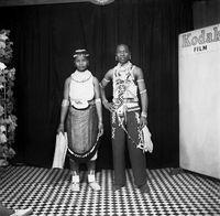 Studio portrait of a Zulu couple