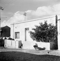 House on a cobbled road, District Six, Cape Town, South Africa
