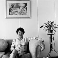Audrey, caretaker of Redmar Buildings, Troyeville, Johannesburg, South Africa