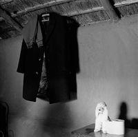 Clothing hanging, Mai Mai hostel, Johannesburg, South Africa