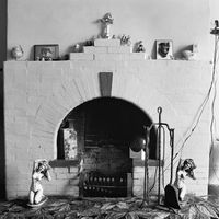 Fireplace in a home in Troyeville, Johannesburg, South Africa