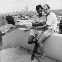 Kedi and Wolfgang Rennert at their home in Troyeville, Johannesburg, South Africa