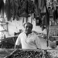 Man in a spice shop, Johannesburg, South Africa