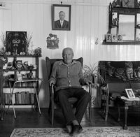 Elderly man in his home, Johannesburg, South Africa