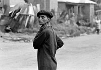 Boy on a township street, South Africa