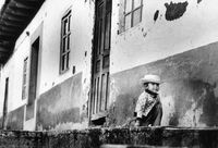 Little boy kneeling, Peru
