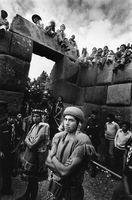 Men on a film set, Peru