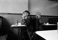 Men in a diner in England