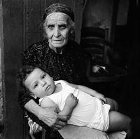 Elderly woman and child, Turkey