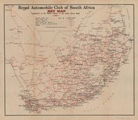 Royal Automobile Club of South Africa. Key map. Supplement to the eight edition of the Club's route book, 1936