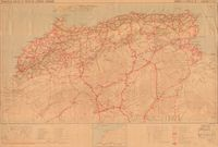 Principales routes et pistes de l'Afrique Francaise [French Africa main roads and tracks (North Africa) ]