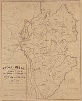 Congo Belge. Carte des missions Catholiques : Ruanda - Urundi