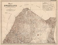 Map of Swaziland. Swaziland north