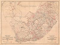 S.A.R. and H. map of the Union of South Africa shewing road motor services, 1938 = S.A.S. en H. kaart van Unie van Suid-Afrika aantonende padmotordienste, 1938