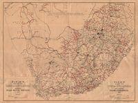 S.A.R. and H. map of the Union of South Africa shewing road motor services, 1942 = S.A.S. en H. kaart van Unie van Suid-Afrika aantonende padmotordienste, 1942