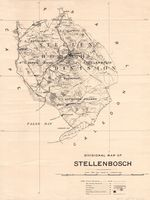 Divisional map of Stellenbosch