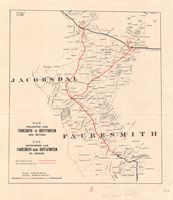 S.A.R. projected line : Fauresmith to Koffyfontein and beyond = Z.A.S. ontworpen lijn : Fauresmith naar Koffijfontein en verder