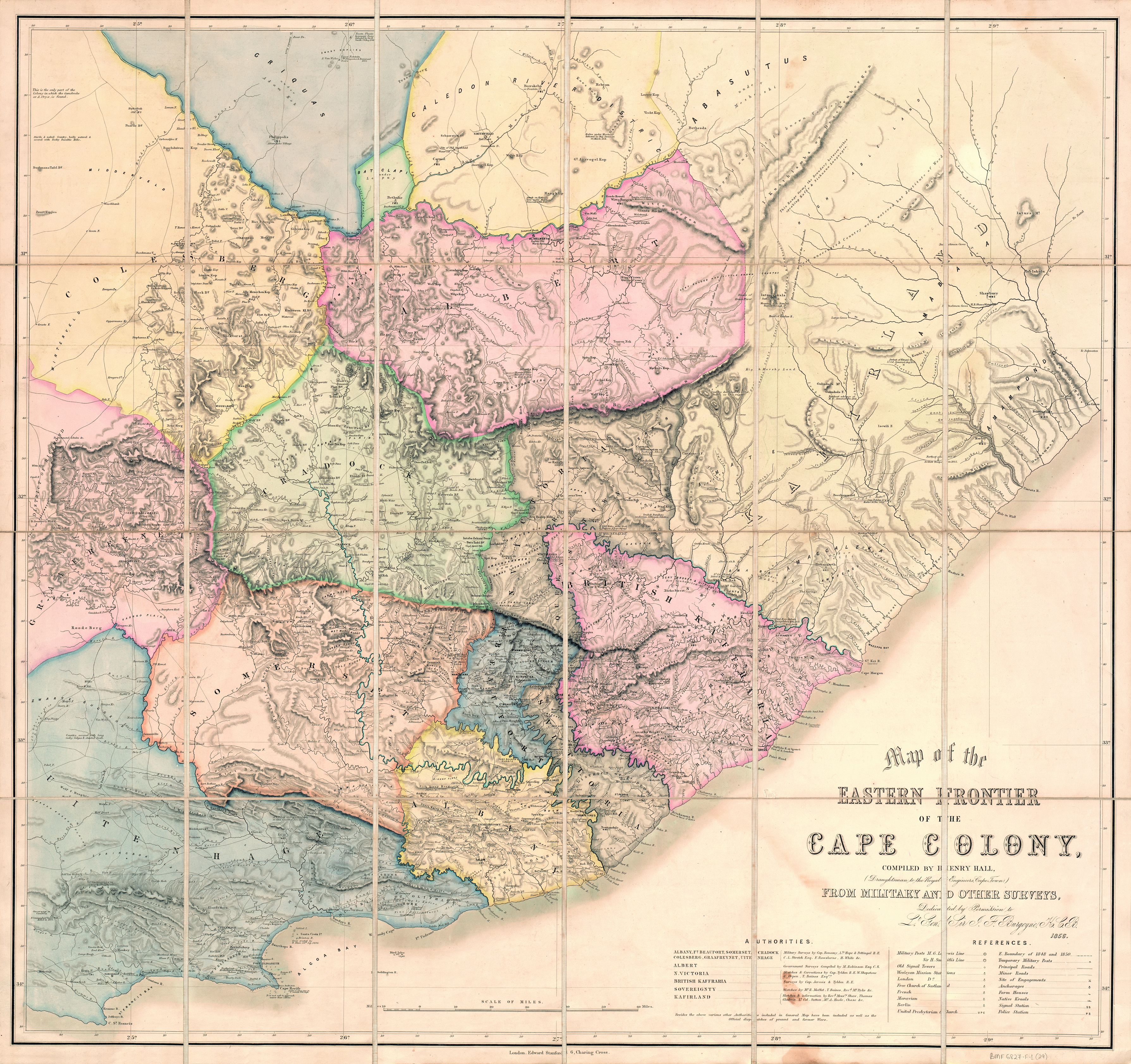 Moravian Campus Map.Map Of The Eastern Frontier Of The Cape Colony Uct Libraries