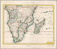 The southern Africa of G. de l'Isle, 1720