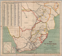 Map of the Cape Government Railways, the Royal Mail route to the Orange River Colony, Transvaal and Rhodesia