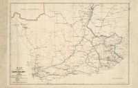 Map of Cape Colony, 1901