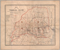 Map of the Transvaal Colony